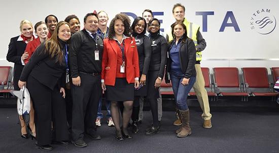 Delta Airlines staff